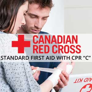 Standard First Aid with Red Cross CPR C